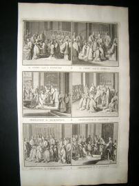 Picart C1730 Folio Antique Print. Religious Catholic 52